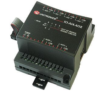 Unitronics PLC I/O modul, IO-AI4-AO2 analóg ki- és bemeneti bővítő