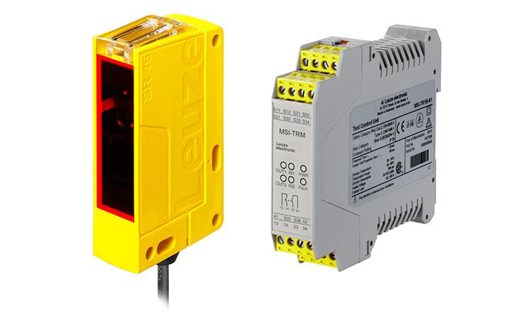 SLC46C biztonsági fénysorompó és MSI-TRM modulja
