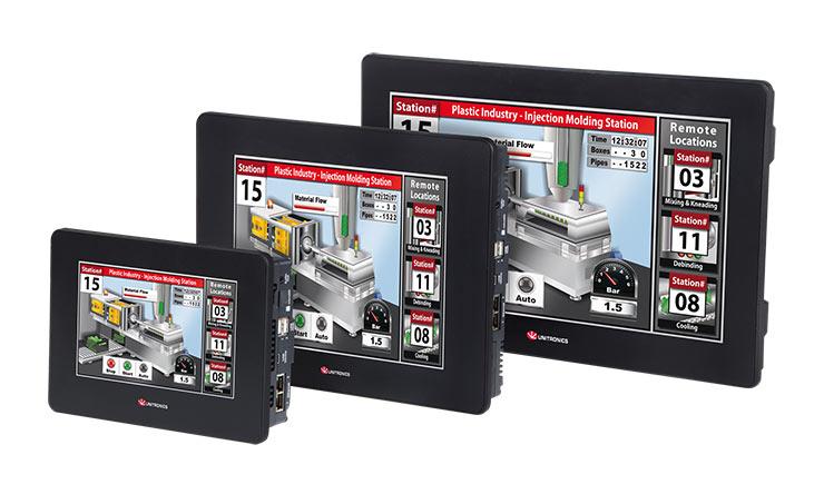 """Moduláris PLC + HMI-k, Unistream 7"""", 10,4"""" és 15"""""""