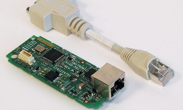 Unitronics V100-17-PB1 profibus slave PLC kommunikációs modul és kábellel