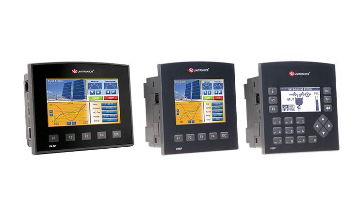 Vision 430, 350 és 130 PLC-k egymás mellett