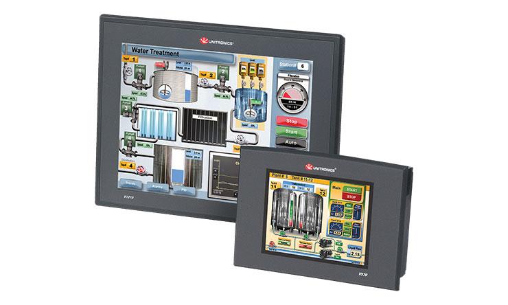 Unitronics vision 1210 és 570 PLC + HMI-k