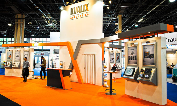 Kvalix booth on a trade show