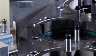 Egyedi gép cilinder összeszerelő körasztalának részlete