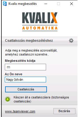 Teamviewer QuickJoin ablak